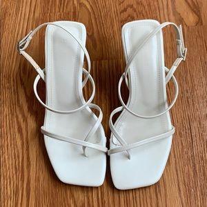 Zara Shoes - Zara white strappy mid-heel sandal